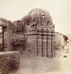 Remains of the old brick tower of the shrine of the Parsvanatha Temple, Sankeshvar